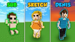 SUB vs SKETCH vs DENIS - GROWING UP in Minecraft! (The Pals)