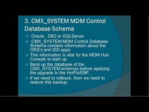 Informatica MDM 10 -  How to Rollback HotFix and Patch or EBF