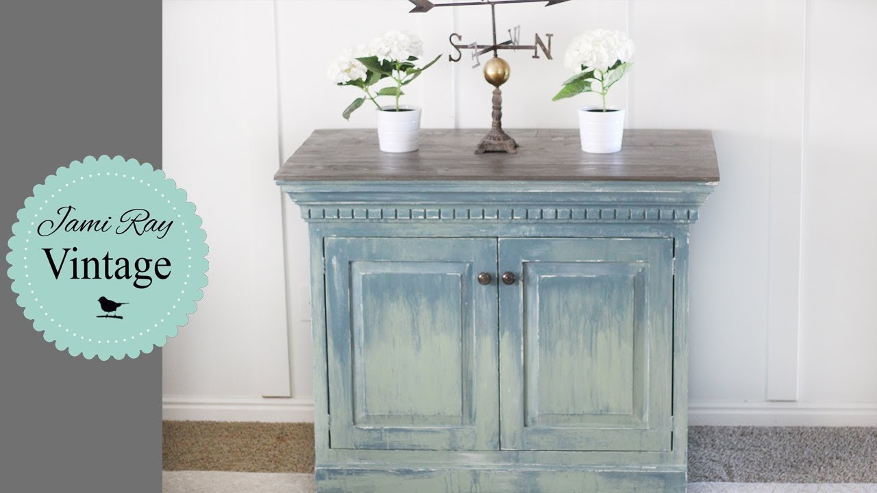 How To Transform An Armoire  Chippy Drippy Paint  Youtube