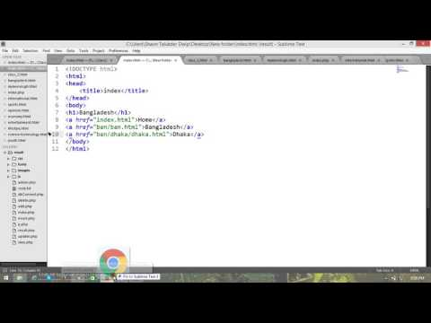 How to link up with folder link in HTML...