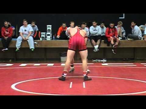 2013 UCM Mules Wrestle Offs - Bryan vs. Boyd (red) 174 lbs.