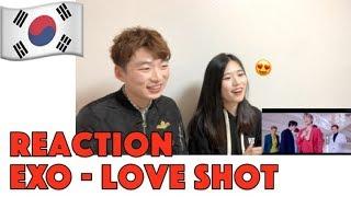 """Gambar cover KOREAN REACTION EXO 엑소 """"Love Shot"""" MV"""