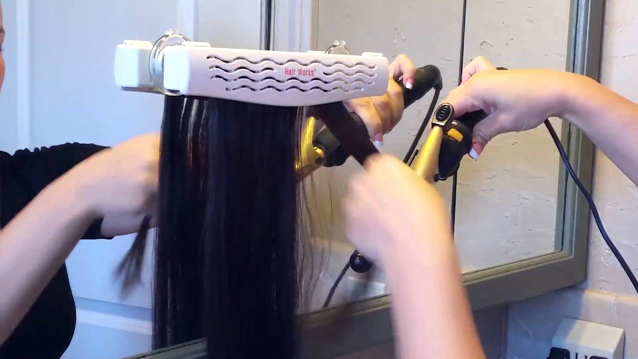 Hair Works 4 In 1 Hair Extension Style Caddy Youtube