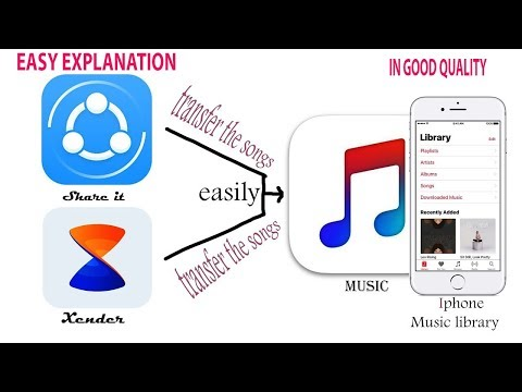 How to transfer music file from SHAREit/Xender App to iPhone Music Library