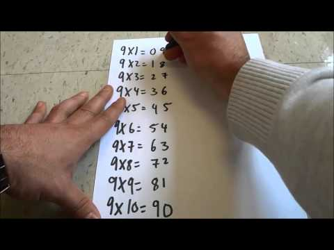 Easy Way To Learn The 9 Times Multiplication Table-Math Trick