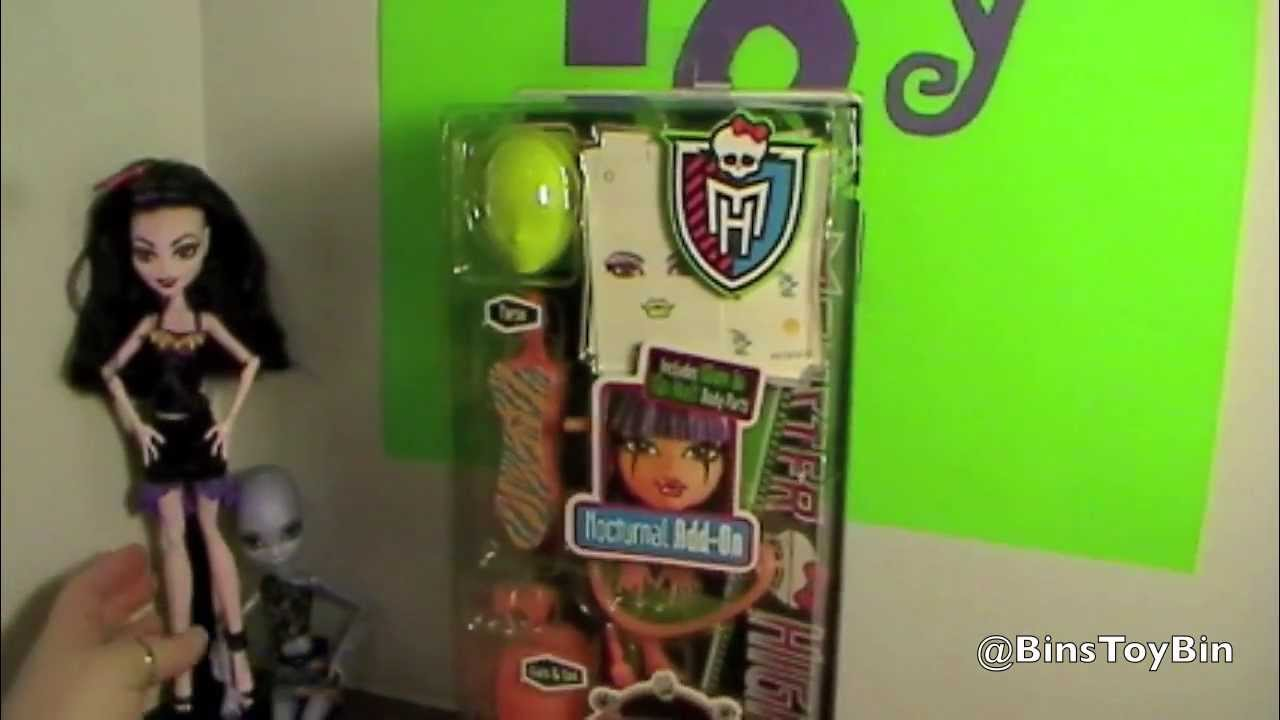 Monster High Create A Monster Design Lab Nocturnal Add On Pack