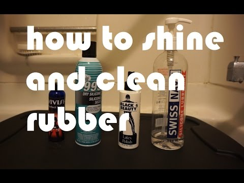 How to shine and clean rubber fetish clothing