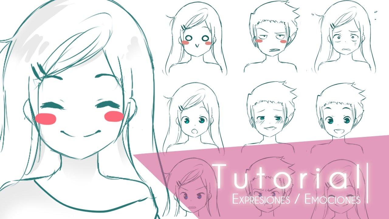 Para Niños De Dibujos Animados Caras Diferentes: Para Diferentes De Colorear Caras Emociones