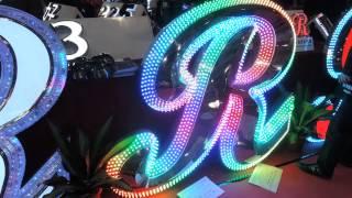 видео светодиодные буквы