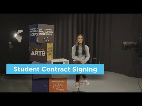 Singapore Media Academy: Student Contract Signing