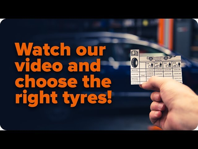 Where to find the recommended tyre size for your car | Tips from AUTODOC