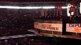 WWE WrestleMania XXVIII (28), WWE Champion CM Punk entrance to Cult of Personality
