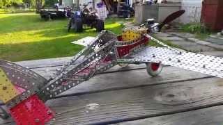 A C Gilbert Erector Set Airplane and Gilbert .11 glow engine