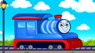 Развивающий мультик игра для малышей ПАРОВОЗИК ТОМАС - мойка и покраска! Thomas the train