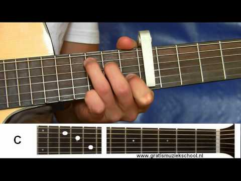 How to play: Ayo technology - Milow | guitar lesson by gratismuziekschool.nl