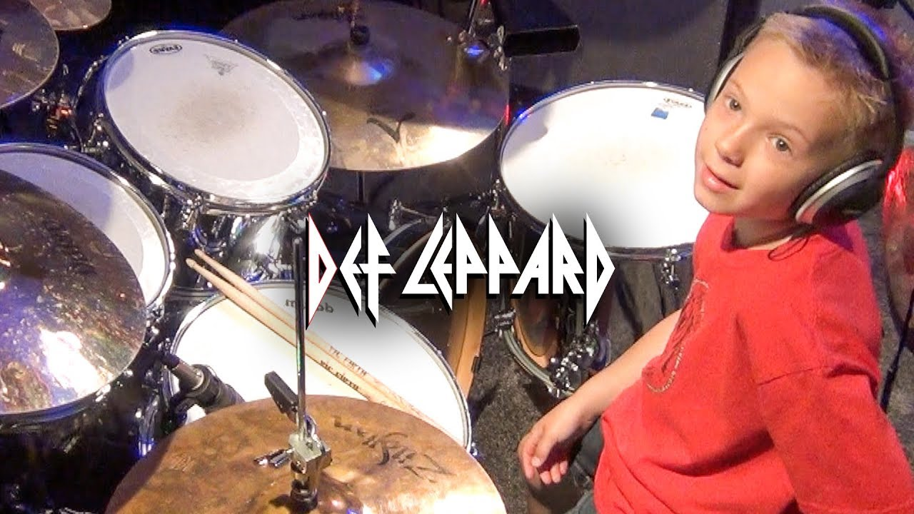 ROCK OF AGES (6 year old Drummer) Drum Cover by Avery Drummer Molek