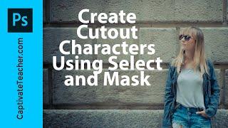 Kullanım Photoshop CC Seçin ve Maske Oluşturmak için İnsanları Kesip