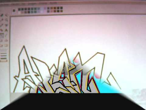GRAFFITI -ALAN- EN MSPAINT - YouTube