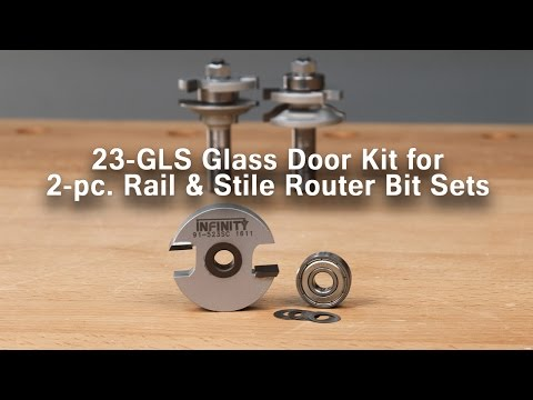 Make Glass Cabinet Doors with this Glass Door Router Bit Accessory Kit