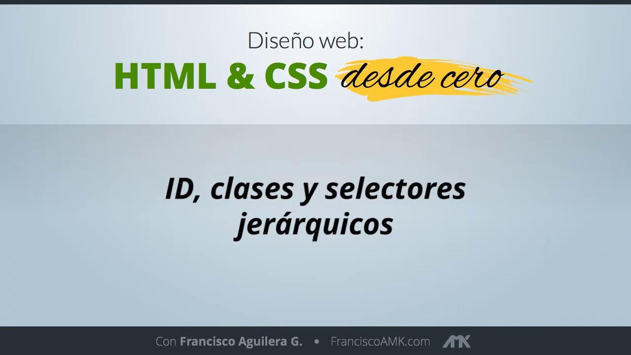 HTML y CSS Desde Cero – 06. ID, Clases y Selectores Jerárquicos