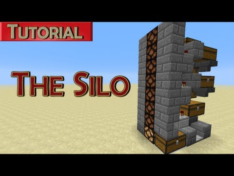 Minecraft Tutorial: The Silo - Bulk Storage with Status Indicator