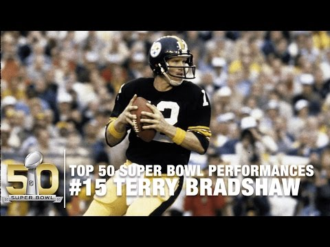 #15: Terry Bradshaw SB XIII Highlights | Steelers vs. Cowboys | Top 50 Super Bowl Performances