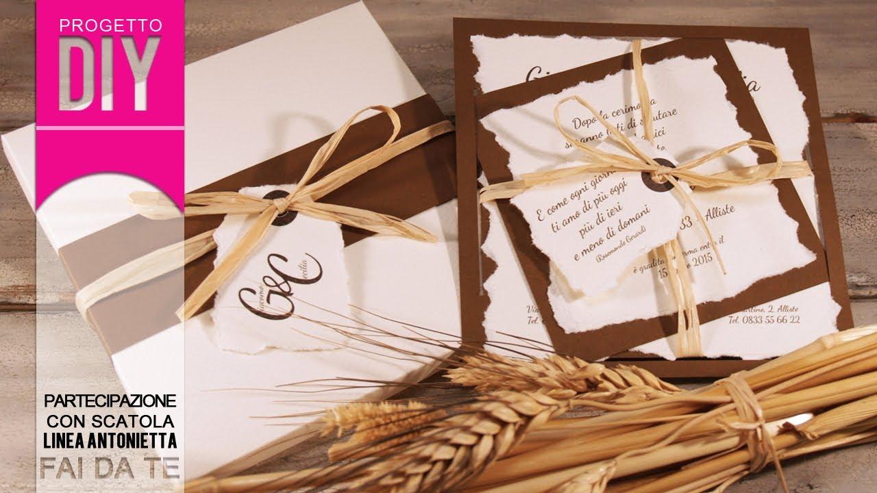 Partecipazioni Per Matrimonio Fai Da Te.Matrimonio Fai Da Te Tutorial Partecipazione Antonietta