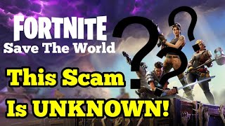 'UNKNOWN SCAM' NEW EDIT GLITCH SCAM 'OP' (BEWARE) Fortnite sauver le monde