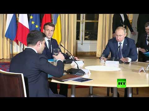 أول ما قاله الرئيس بوتين لـ رئيس أوكرانيا في أول لقائهما: التفت، يصورونك!  - نشر قبل 24 دقيقة