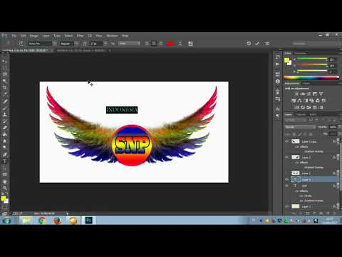 tutorial photoshop cara membuat logo kere contoh logo SNP saudara new pallapa