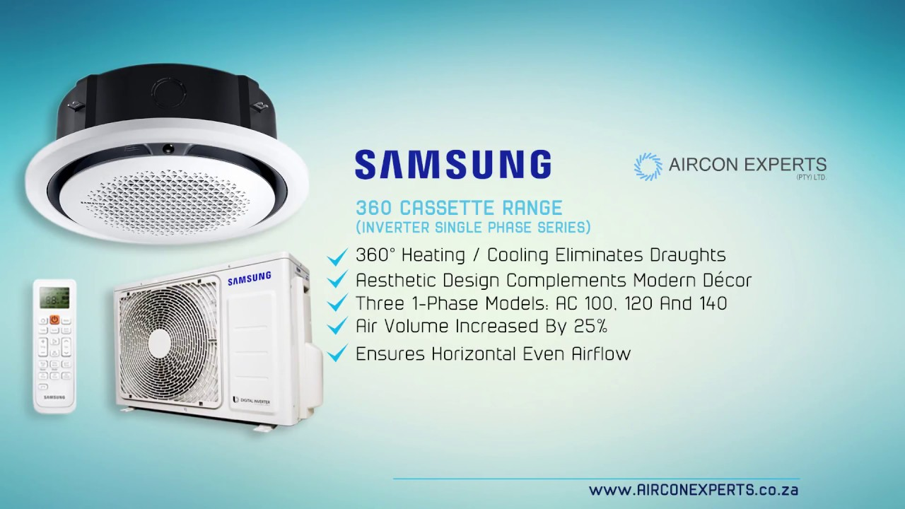 Samsung 360 Ceiling Cassette Air Conditioners Range Smart