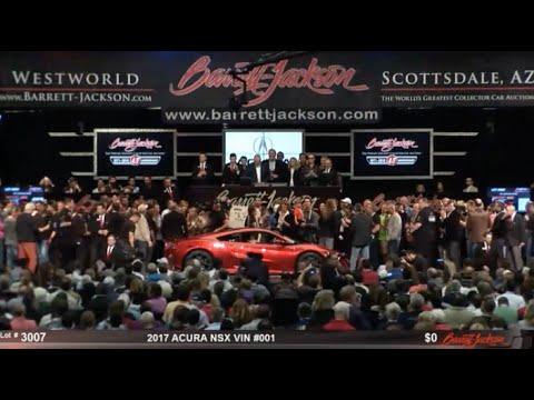 2017 Acura NSX - VIN 001- lot #3007 - $1.2M - Barrett-Jackson ...