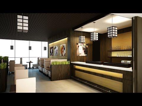 Интерьер ресторана. Дизайн в японском стиле