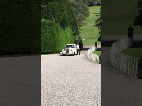 Leighton Hall, Lancashire - Bride arrived in beautiful cream Rolls Royce