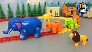 Elephant train toy for children Videos  Kids TR...