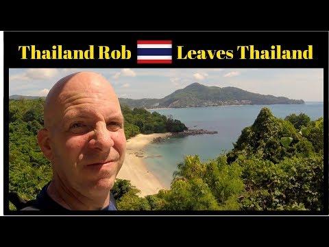 Thailand Rob leaves Phuket Thailand