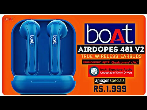 Boat Airdopes 481 V2 || True Wireless Earbuds || Official Launched⚡10mm Driver⚡Features ! Price