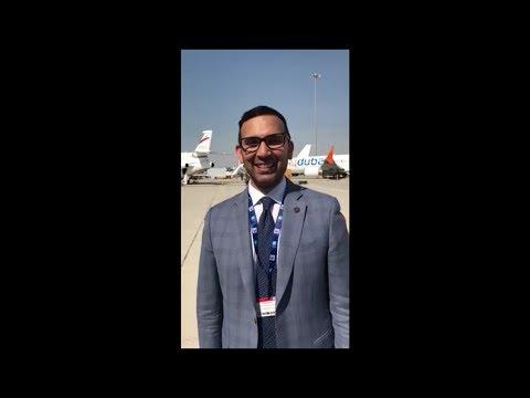 COO Zia at the Dubai Airshow