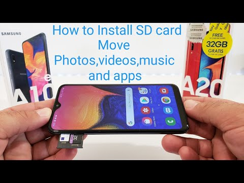 Samsung Galaxy A10e,A20,A30,A40,A50,How To Install SD Card. And Move Photos,videos, Music, And Apps.