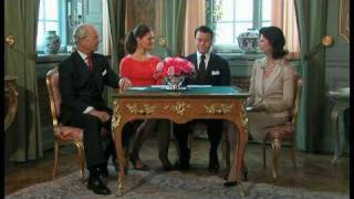 Kronprinsessan Victoria och Daniel Westling förlovade