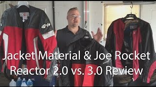 Motorcycle Jacket Material Review And Joe Rocket Reactor 2 vs 3 Comparison