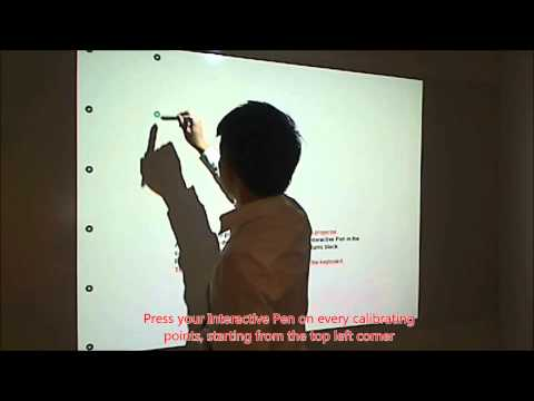 Sony Projector IPU-1 Tutorial 01 : Calibration of Interactive Pens