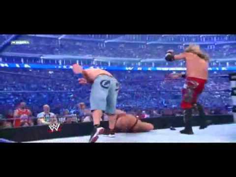 John cena vs Edge vs Big show Wrestlemania 25 Kevin rudolf I made it
