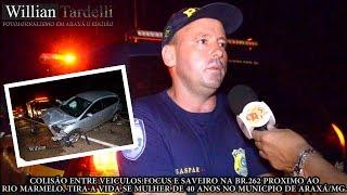 Comando 190 Araxá - Colisão entre Focus e Saveiro, tira a vida de mulher na Br-262 em Araxá.