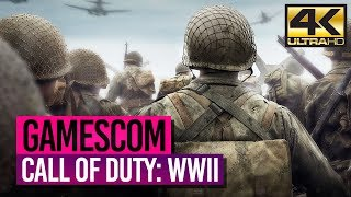 CALL OF DUTY: WWII [4K] 🎮 GAMESCOM 2017