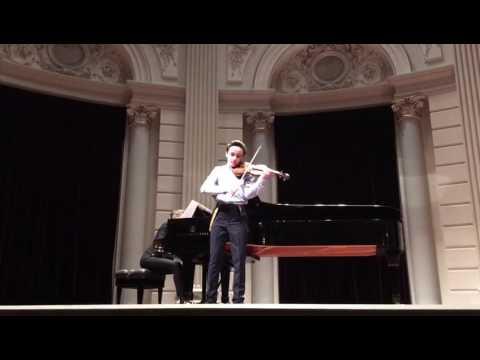 Enzo speelt Playera van Sarasate tijdens halve finale Koninklijk Concertgebouw Concours 2017