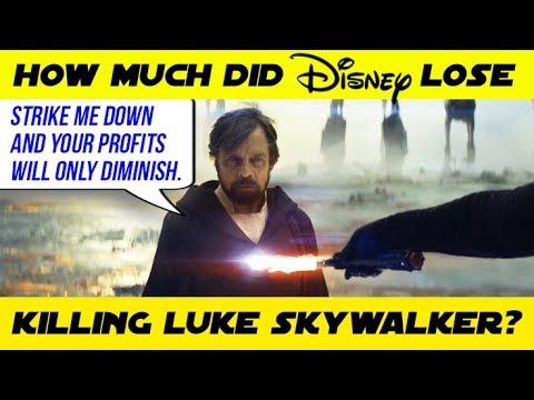 HOW MUCH MONEY DID DISNEY LOSE BY KILLING LUKE SKYWALKER IN THE LAST JEDI ???