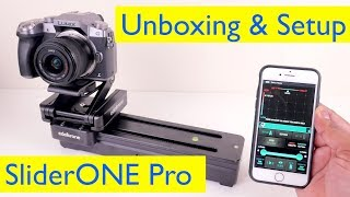 Edelkrone SliderOne Pro Unboxing and Setup Tutorial using the App