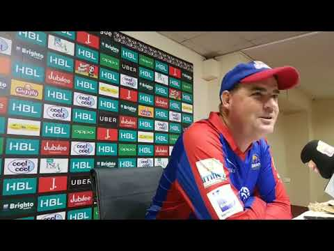 Karachi Kings VS Islamabad United Post match Press conference March 16, 2018.
