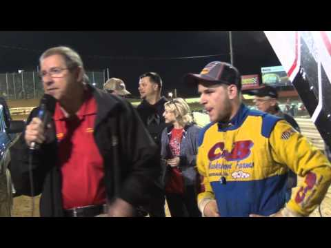 Lincoln Speedway 410 Sprint Car Victory Lane 4-16-16